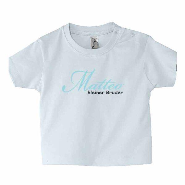 Kleiner Bruder mit Name Kinder T-Shirt