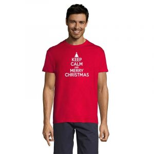Keep Calm And Merry Christmas Herren T-Shirt