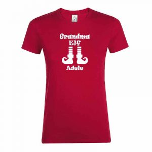 Grandma Elf mit Name T-Shirt