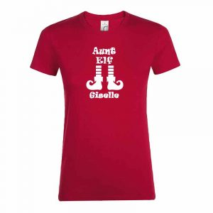 Aunt Elf mit Name T-Shirt