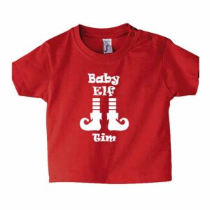 Baby Elf mit Name Kinder T-Shirt