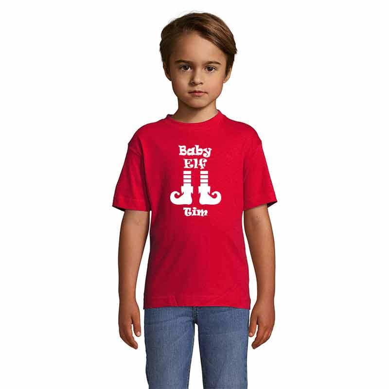 Baby Elf mit Name T-Shirt