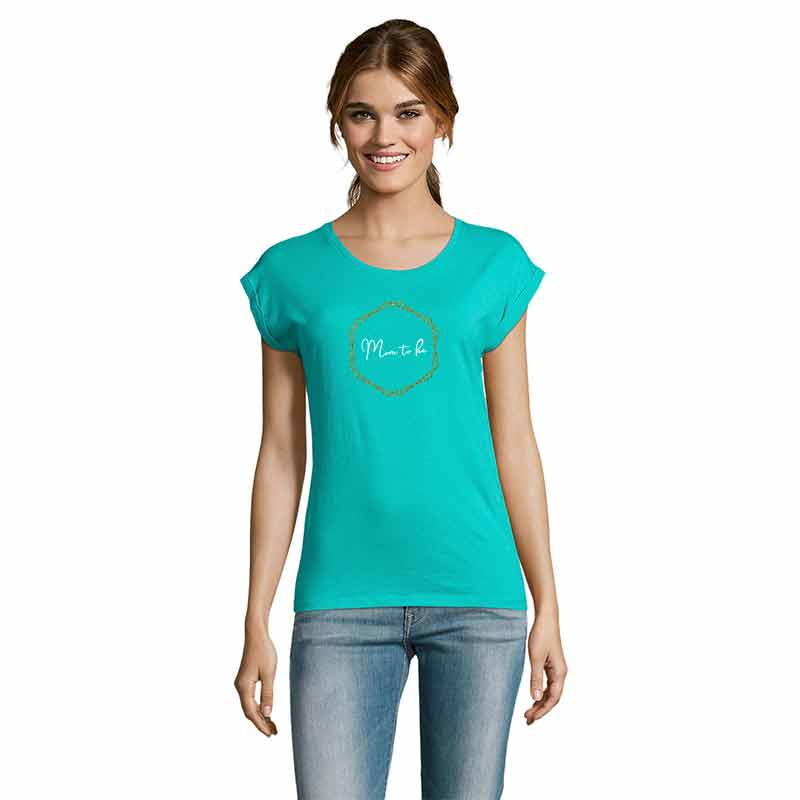 Mom To Be in Sechseck Damen T-Shirt