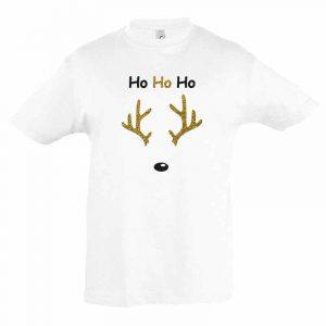 Ho Ho Ho Rentier Kinder T-Shirt