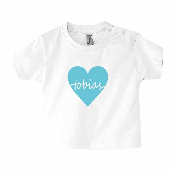 Name in Herz Kinder T-Shirt