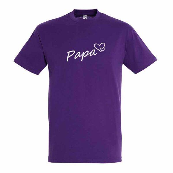 Papa mit Herz Herren T-Shirt