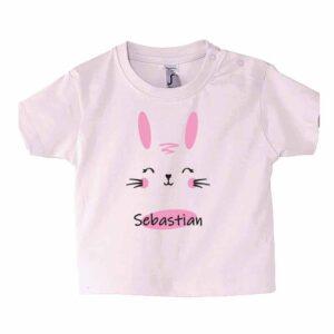 Häschen mit Name Kinder T-Shirt