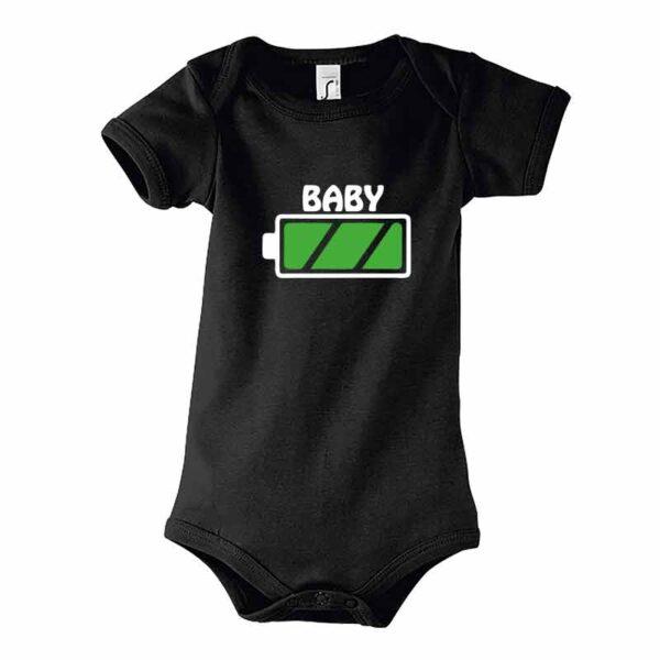 Batterie Baby Kurzarm-Body