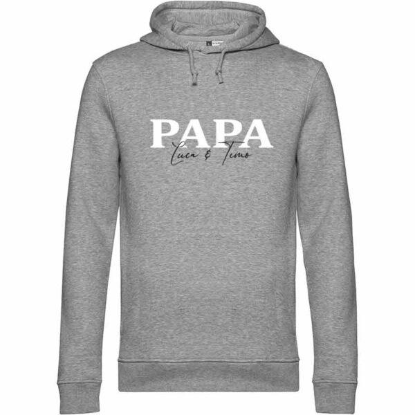 Papa und Kindernamen Herren Hoodie