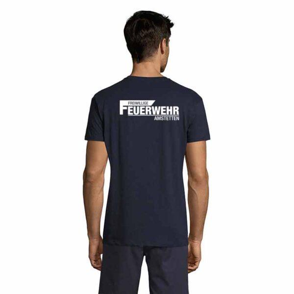 Freiwillige Feuerwehr mit Ortsnamen T-Shirt