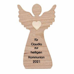Holzengel für Erstkommunion